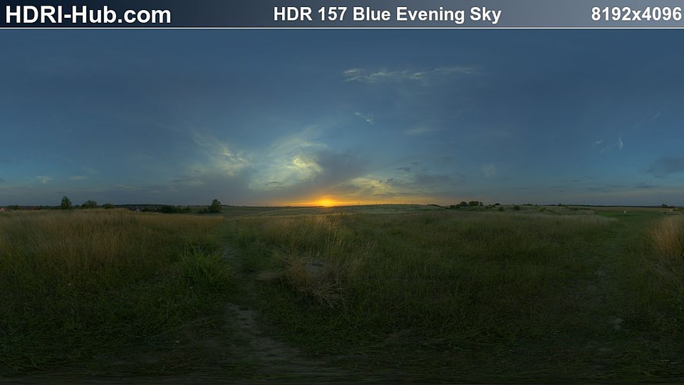 HDRI Hub 157 Blue Evening Sky