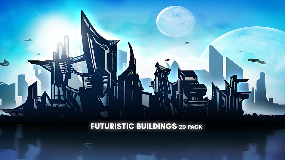 Futuristic City 2D Asset Pack