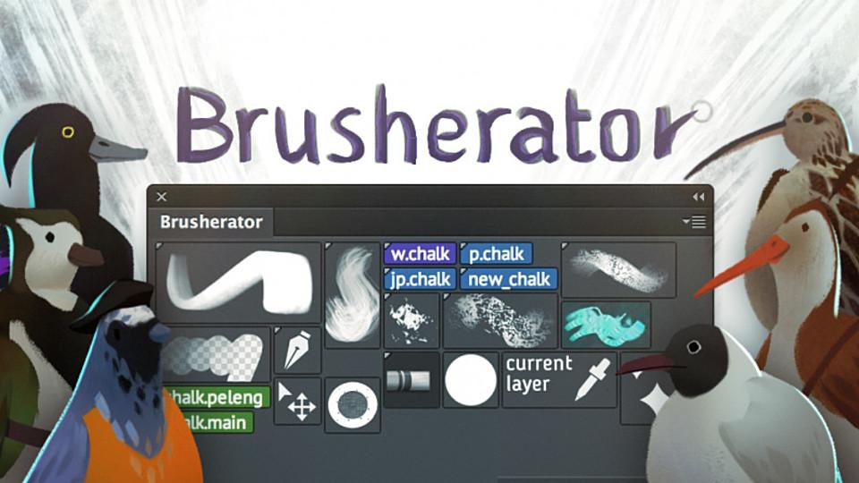 Brusherator for Photoshop CC+! Brushes! Actions!