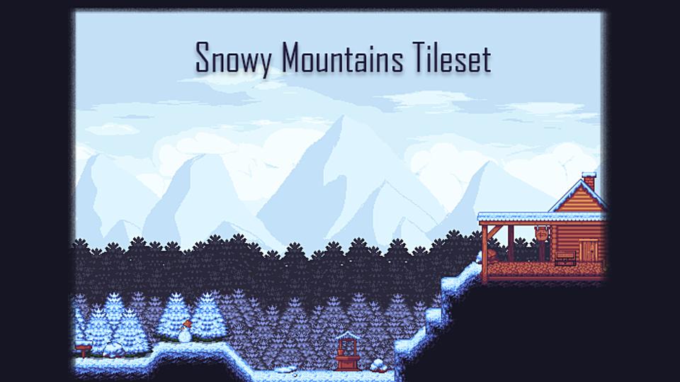 Snowy Mountains - Platformer Tileset