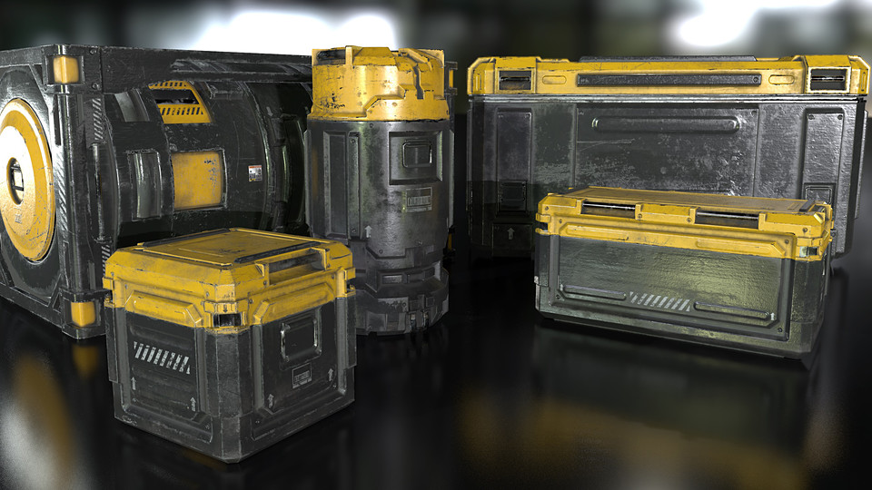 Sci-Fi Industrial Crate Collection