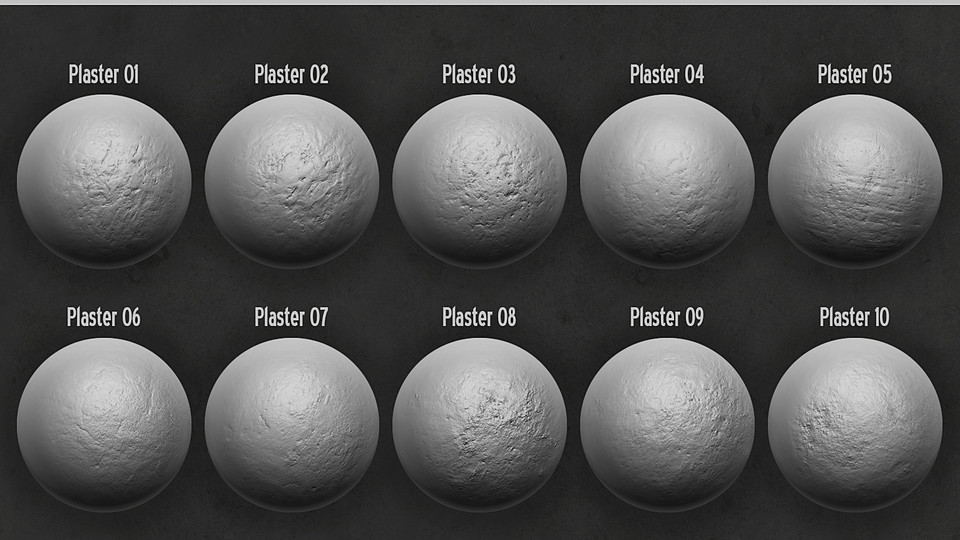 Zbrush Alpha Pack - Plaster & Concrete on zbrush create alpha brush, cobblestone displacement maps, zbrush seam alpha brush, zbrush alpha metal, zbrush alpha library,