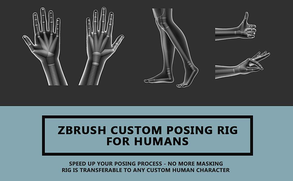 Zbrush Custom Posing Rig Tool For Humans Version 2