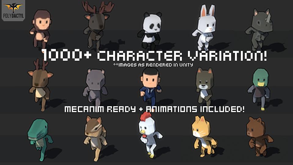 پکیج یونیتی 1000+ Character Pack v1