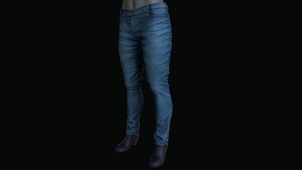 Female Pants And Shoes VR / AR / low-poly 3D model