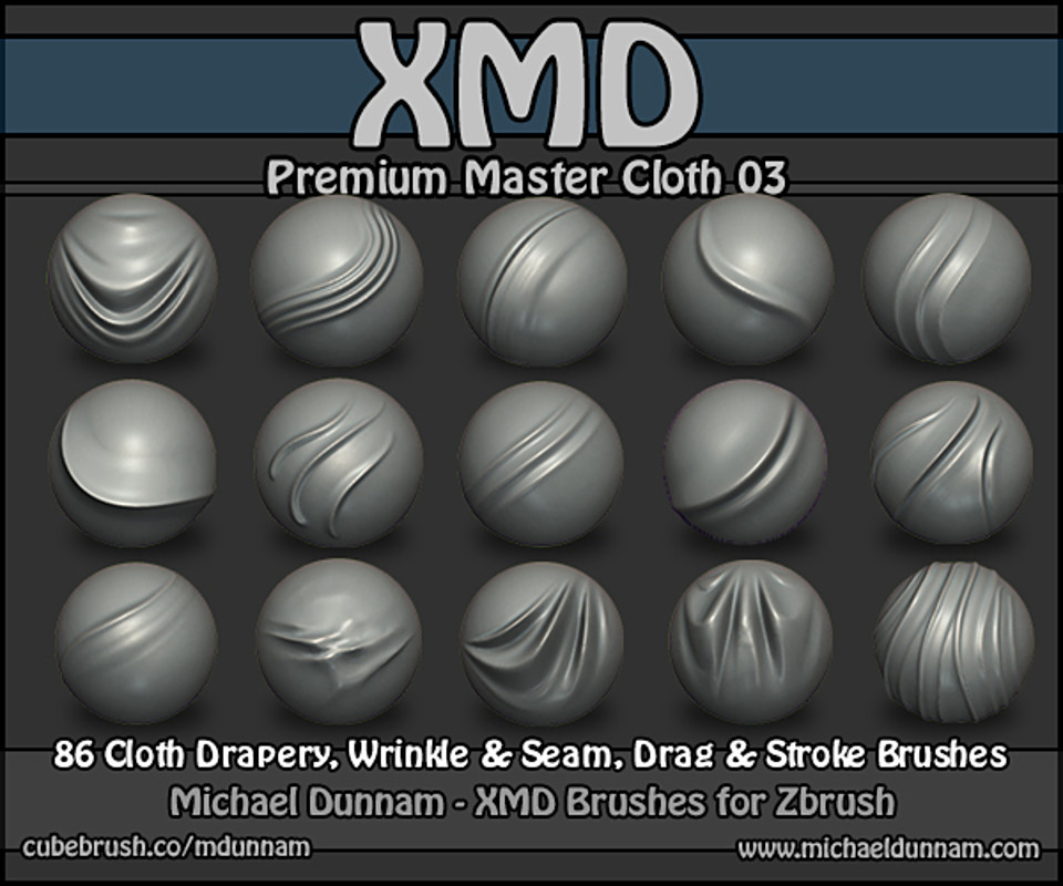 Premium Master Cloth 03 - ZBrush Brushes