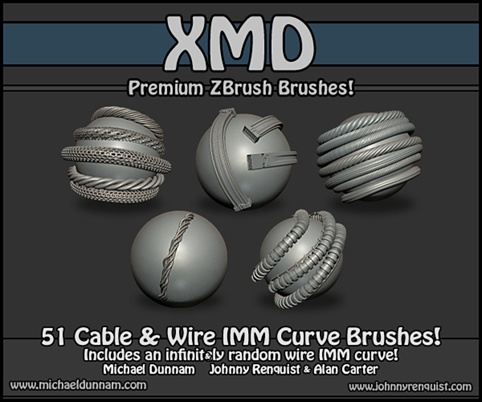 Cable & Wire ZBrush IMM Brushes