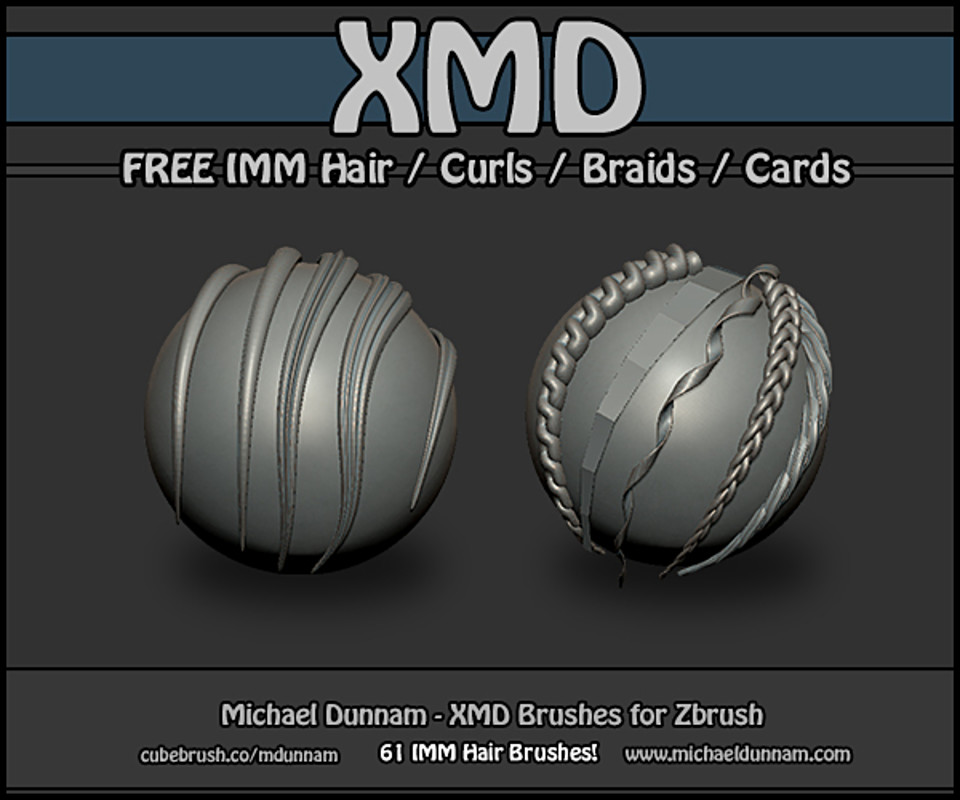 free zbrush imm hair brushes 01