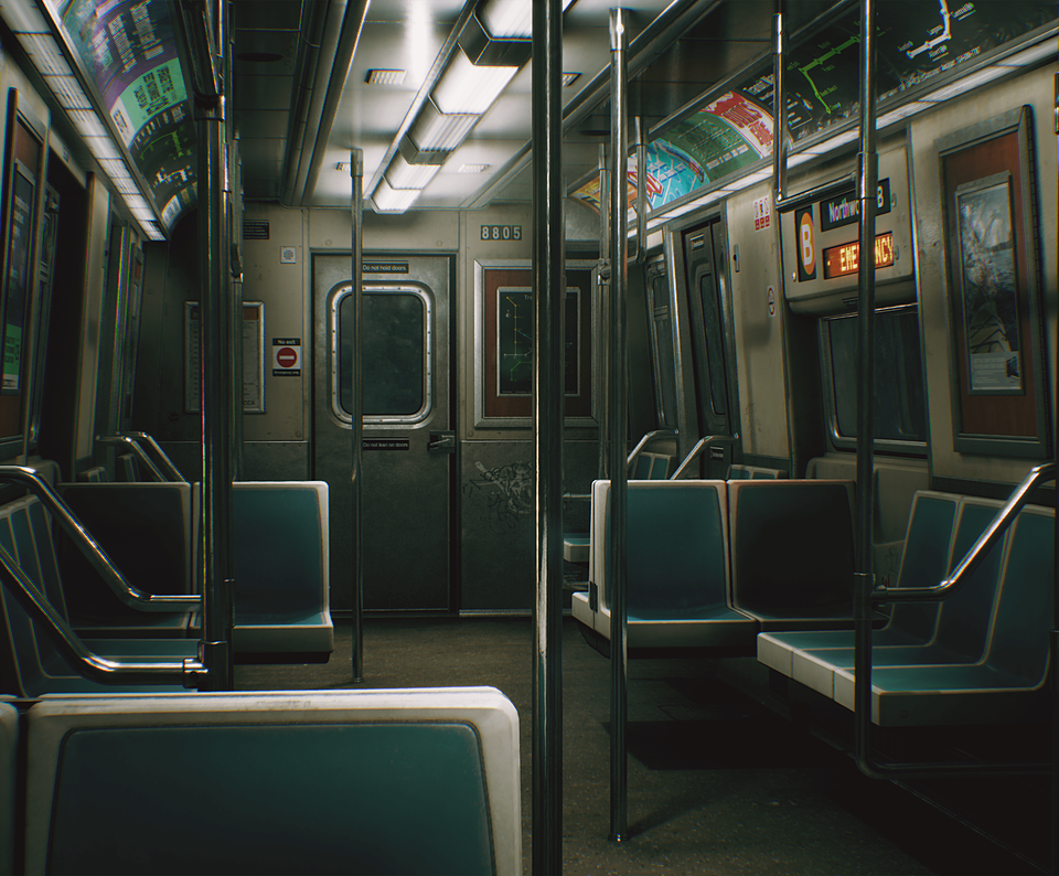 UE4) City Subway Train