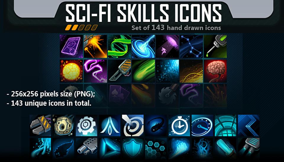 Sci-Fi Skill Icon Pack