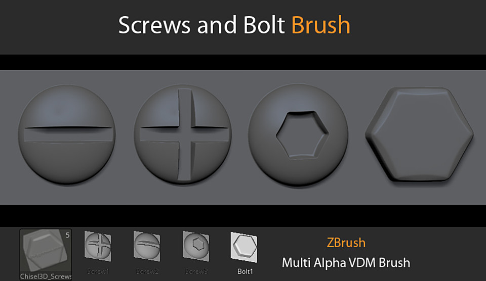 Screws and Bolt VDM Brush