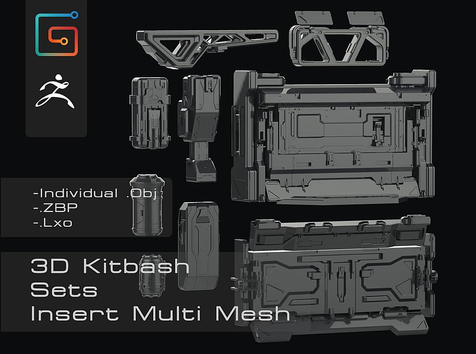 3d Kitbash set
