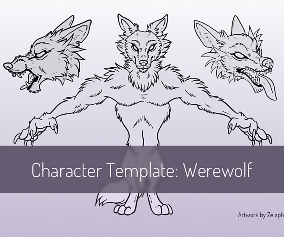 Character Design Template: Werewolf