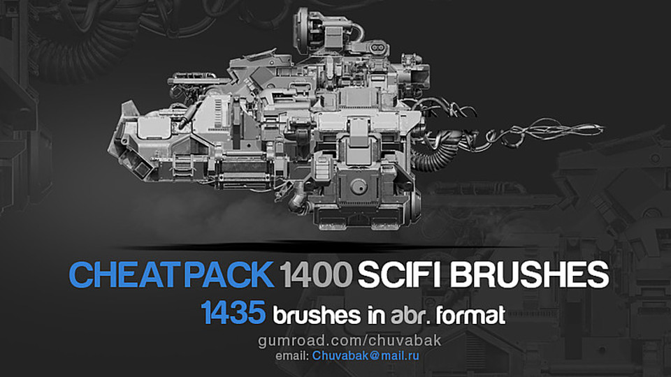CHEATPACK 1400 SCIFI BRUSHES