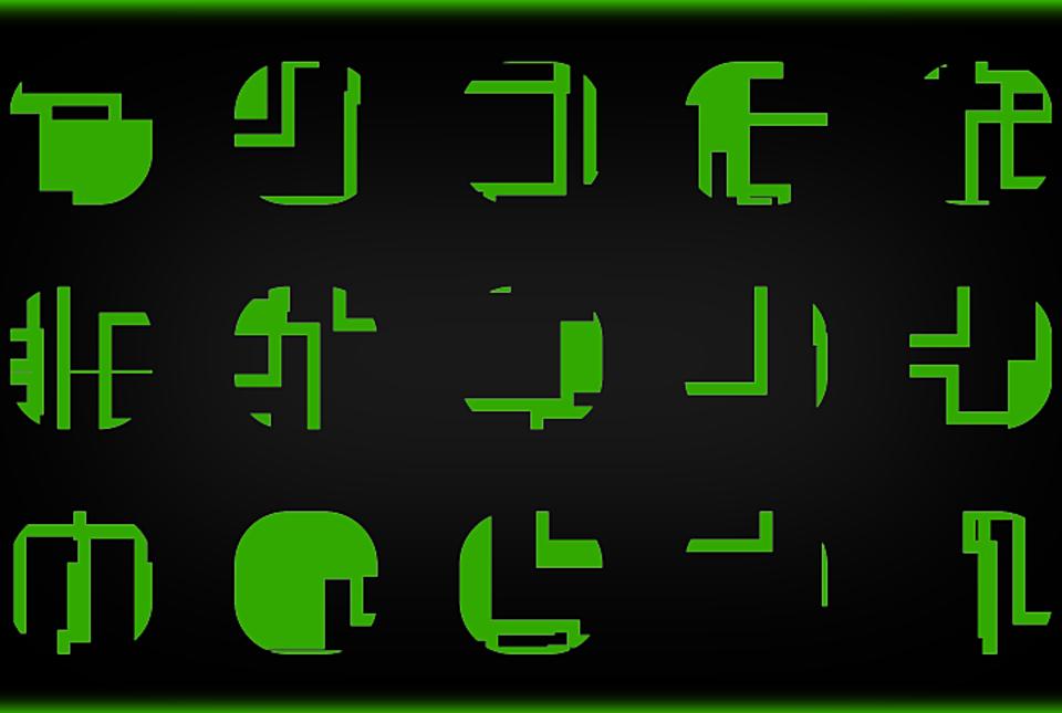Xeno Symbols: Alien Alphabet Graphics: UE4/PNG