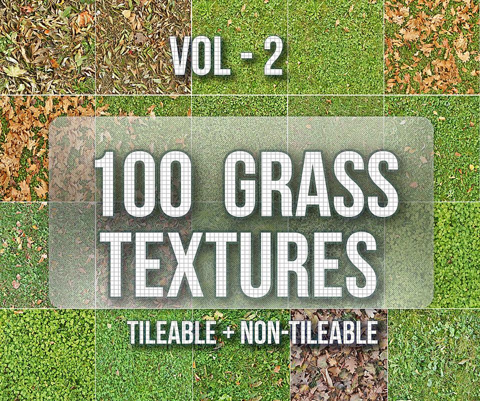 100 Grass Texture Pack VOL-2