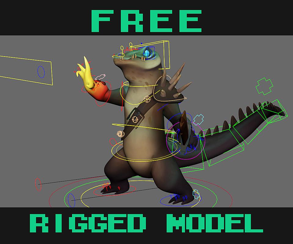Free Rigged Fantasy Character