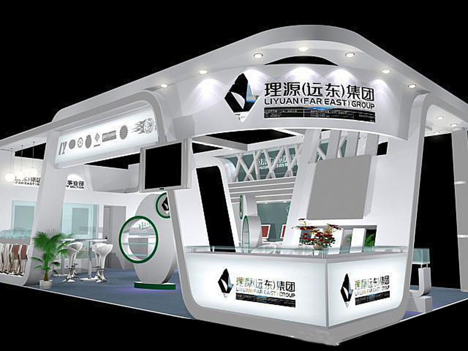 Exhibition Booth Obj : Exhibition area 6x12 3dmax2009 03