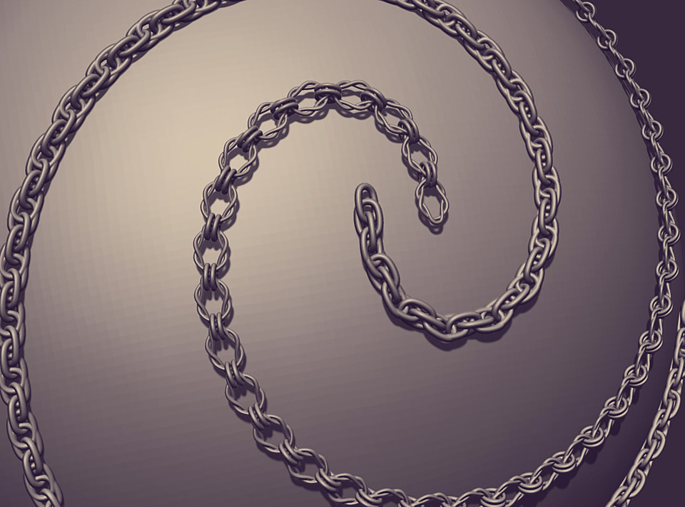Chain Brush Photoshop