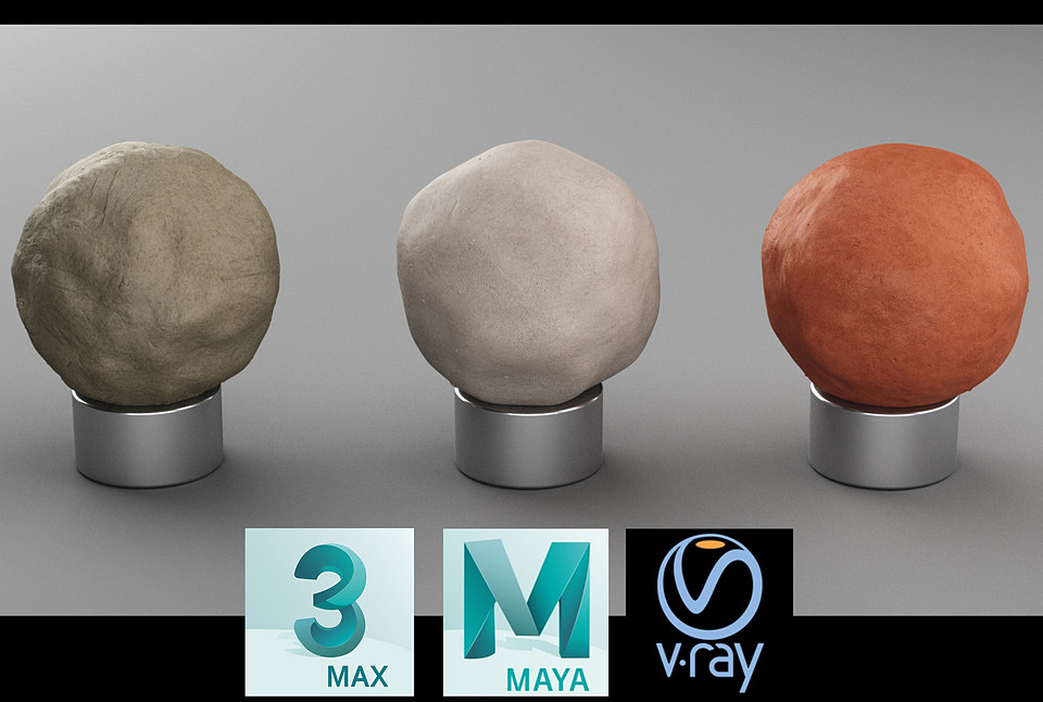 Vray Clay Materials for 3ds max and Maya