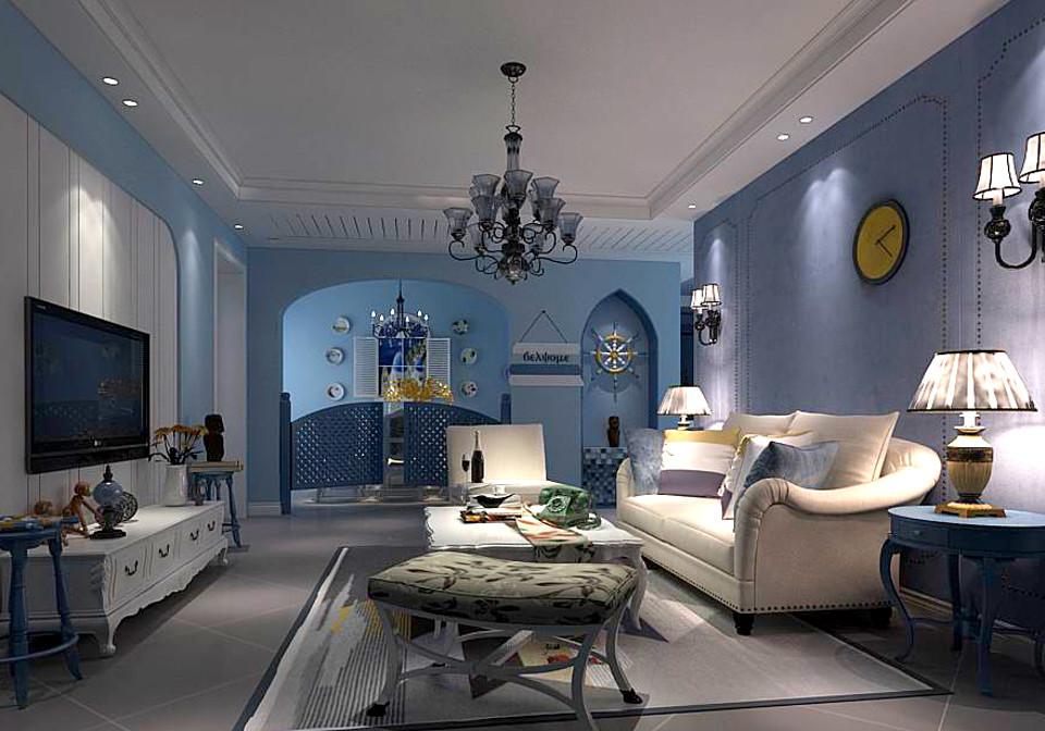 Mediterranean style living room 11