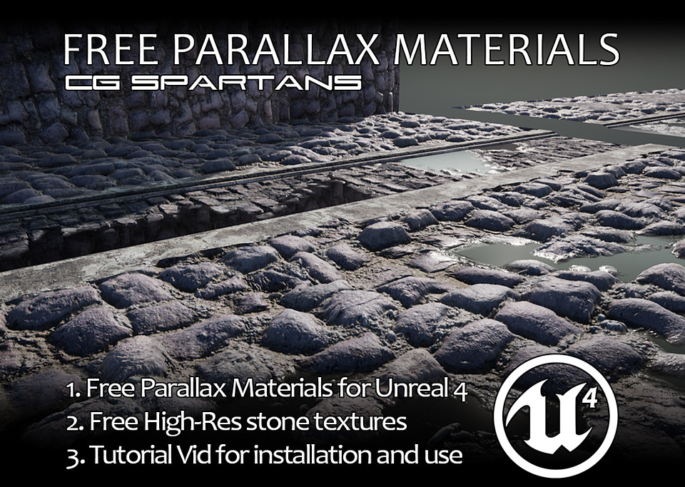 Free UE4 Parallax Occlusion Shaders / Textures