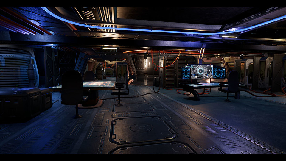 Space station interior - Unreal Engine