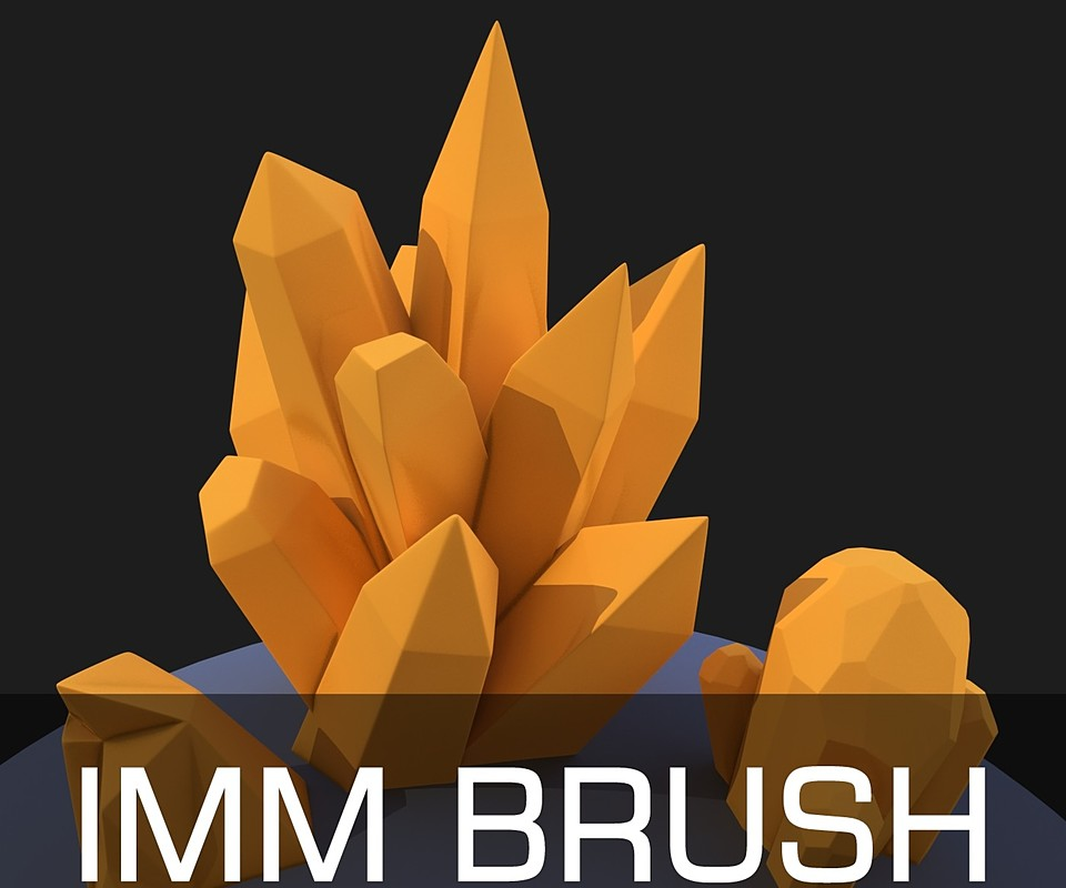 ZBrush Crystals imm brush