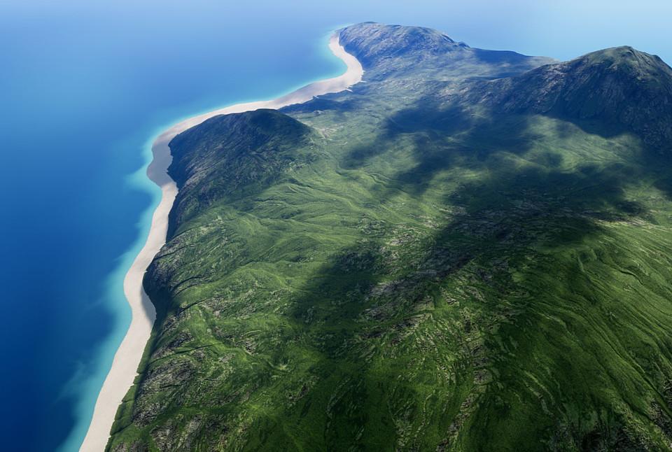 UE4] Island Landscape
