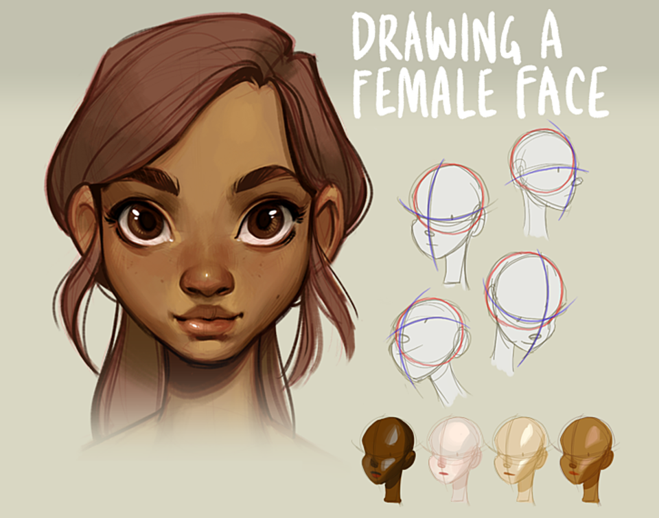 Tutorial Drawing A Female Face