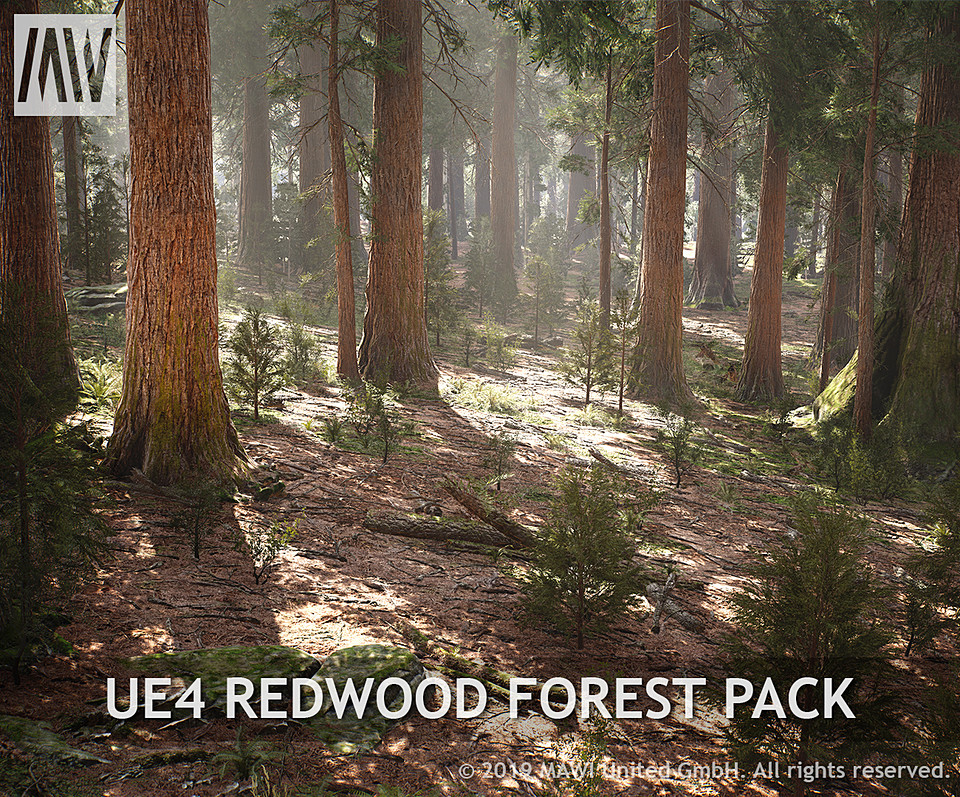 UE4 - REDWOOD FOREST PACK