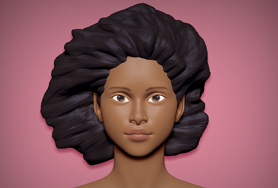 Free Female Head Basemesh