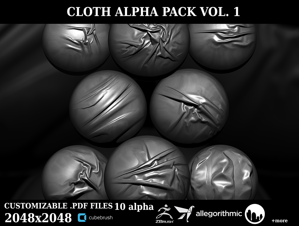 High Resolution Cloth Alpha Pack vol 1