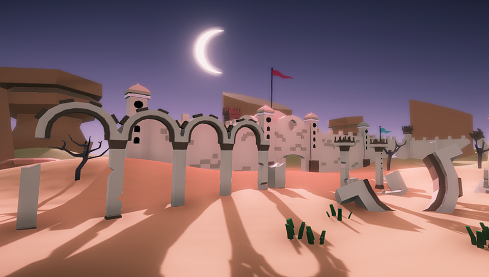 Low Poly Desert Ruins