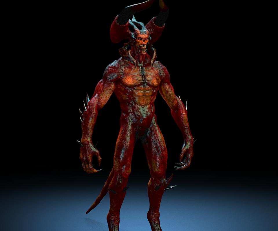 Demon big boss (1) Maya Rig