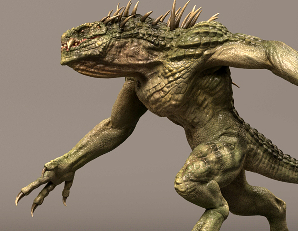 Dino beast creature Maya Rig