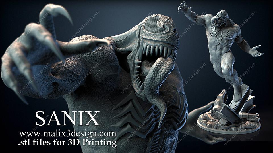 Venom 3D printable Ready
