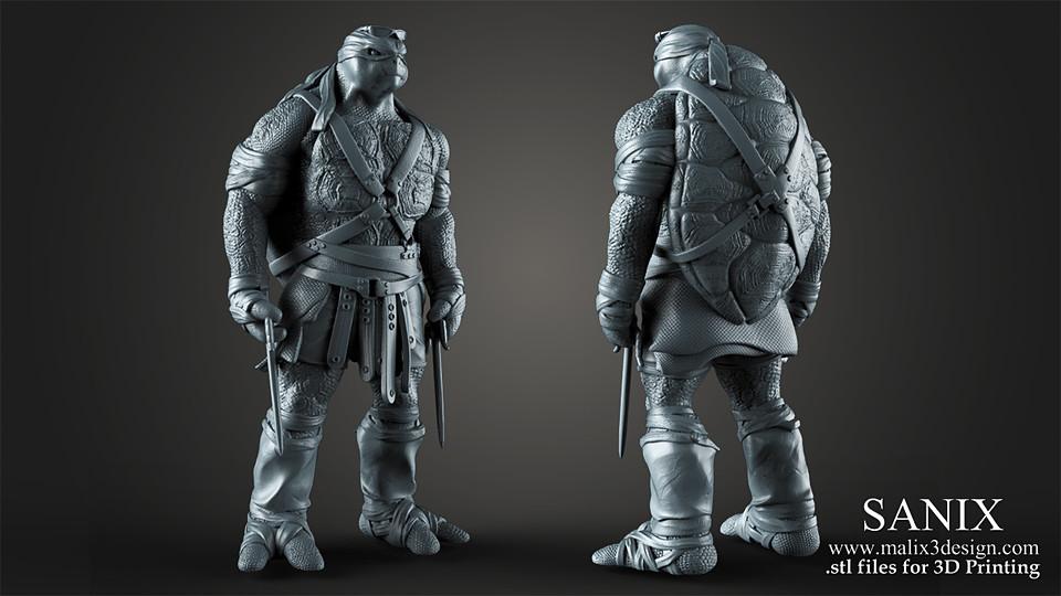 TMNT Raphael - 3D Printable Model