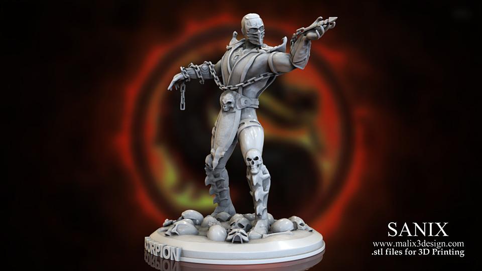 SCORPION - Mortal Kombat 3D Print Model