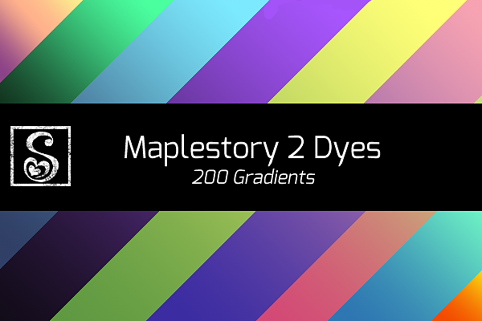 Shrineheart's Maplestory 2 Dye Gradients