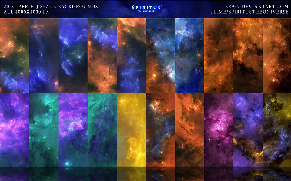20 Super Hq Space Backgrounds Pack 16