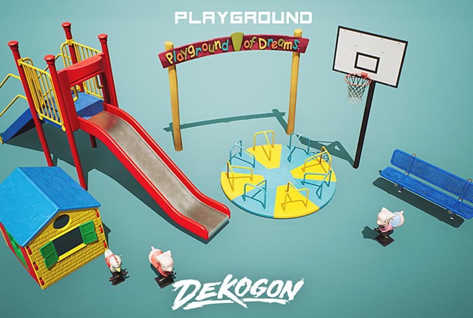 Playground Equipment Props VOL 3 [UE4+RAW]