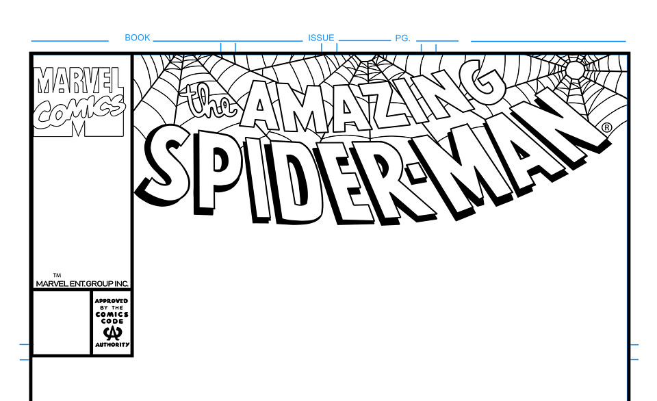 Amazing Spider-Man Comic Book Cover Template