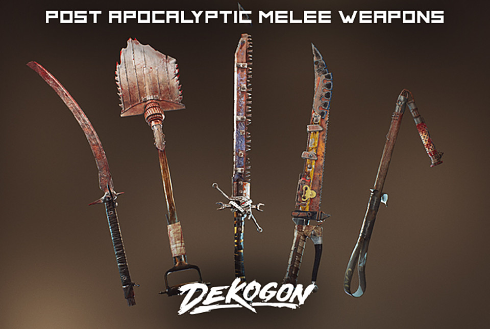 Post Apocalyptic Melee Weapons FPS VOL 3 [UE4+RAW]