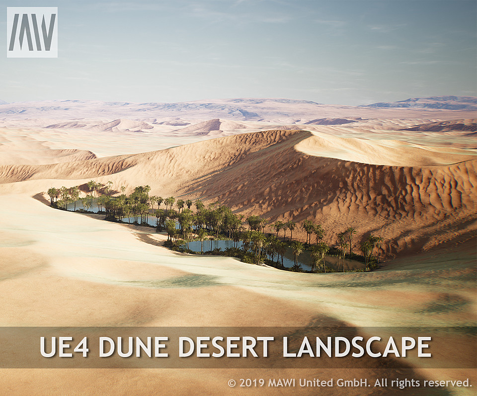 UE4 - DUNE DESERT LANDSCAPE