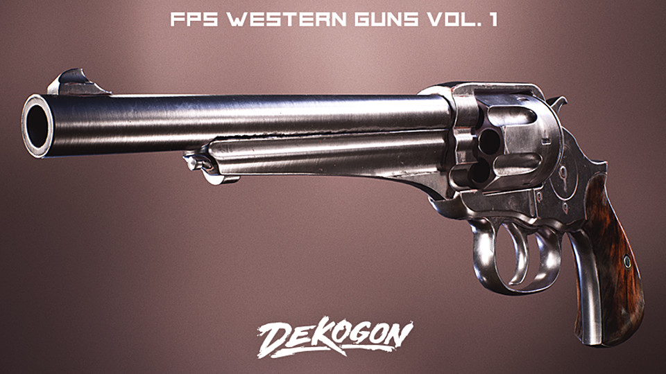 Western Guns 4K FPS VOL 1 [UE4]