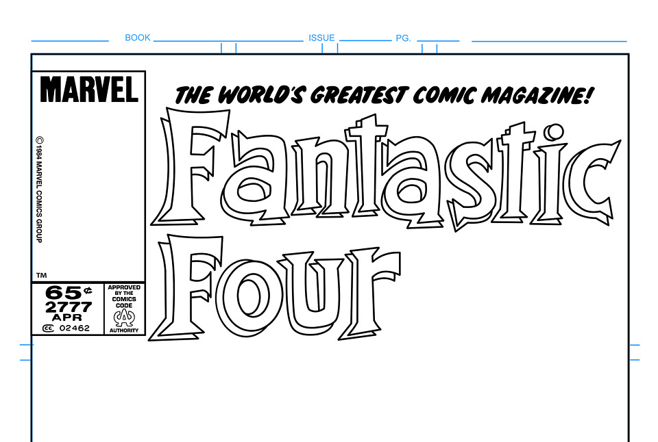 Fantastic Four Comic Book Cover Template