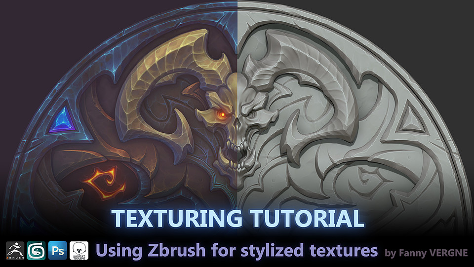 Texturing Tutorial, Zbrush for stylized textures