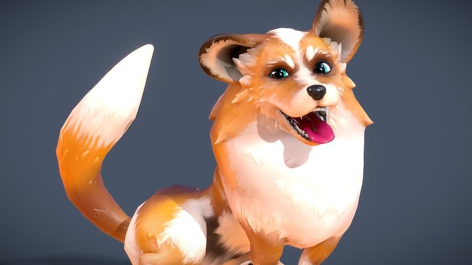 Game Ready Corgi 3D - Animated