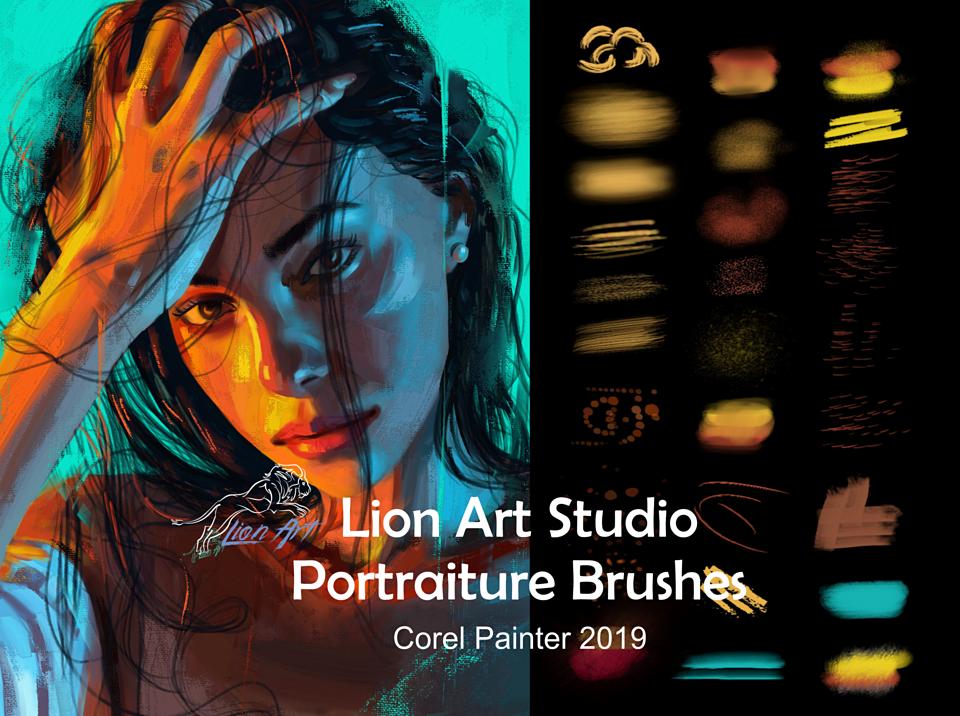 Lion Art Portraiture Brushes Corel Painter 2019